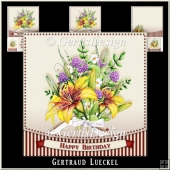 Watercolor Flower Bouquette 992