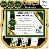 FISHING Humorous A5 Certificate & Ages Card Kit