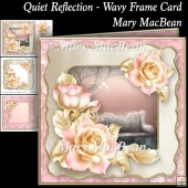 Quiet Reflection - Wavy Frame Card