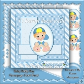 Baby Boy Buffy Decoupage Card Front
