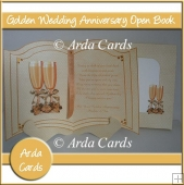 Golden Wedding Anniversary Open Book
