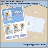 BABY BEAR 2 Card Front, Simple Decoupage & Insert