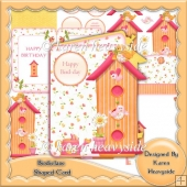 Birdie Lane Shaped Card Kit