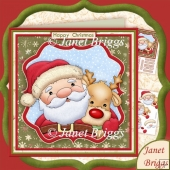 Santa's Buddy Christmas 7.5 Decoupage Kit