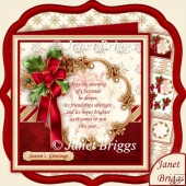 Holly Ribbon May the Meaning of Christmas Decoupage & Insert Kit