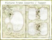 Damask Christmas Picture Frame Insert / Topper