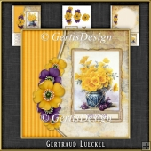 Vintage Butterflies and Flowers Card Kit 1060