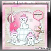 Pink Igloo Bears Mini Kit