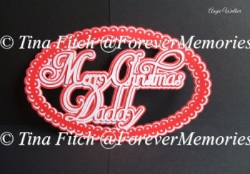 Daddy Christmas Topper SVG