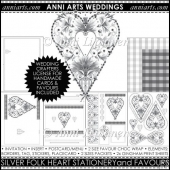 FOLK HEART WEDDING PRINTABLES: SILVER