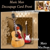 Music Man Decoupage Card Front