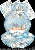Christmas Fairy Round Easel Card Mini Kit
