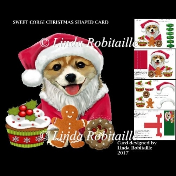 Sweet Corgi Christmas Shaped Card