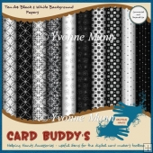 Ten A4 Black & White Background Papers - CU/PU