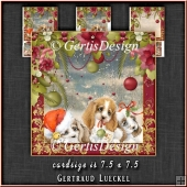 Christmas Puppy Love Card Topper Kit 1332