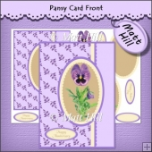 Pansy Card Front