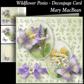 Wildflower Posies - Decoupage Card
