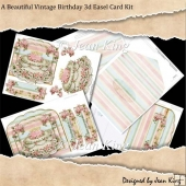 A Beautiful Vintage Birthday 3d Easel Card Kit