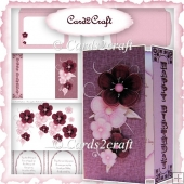 Dark red gatefold card set