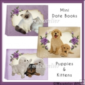 Mini Date Books Puppies & Kittens