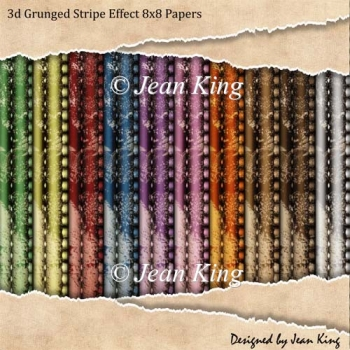 3d Grunged Stripe Effect 8x8 Papers