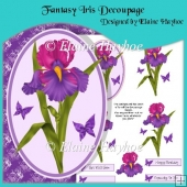 Fantasy Iris Decoupage with Backing Paper
