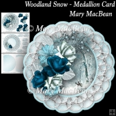 Woodland Snow - Medallion Card