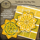 Sunflower Tea Bag Tile Sheet