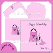 Pink Bag and Shoes 6x6 Card