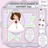 1ST HOLY COMMUNION or CONFIRMATION Girl & Verse 7.5 Decoupage