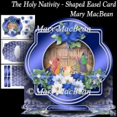 The Holy Nativity - Shaped Easel Card