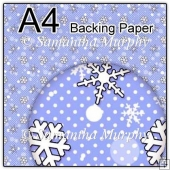 ref1_bp654 - Blue Snowflakes Dots