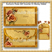 Autumn Rose Gift Voucher Or Money Wallet