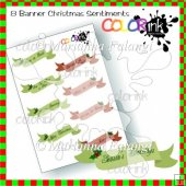 Classic Christmas Banner Sentiments Collection