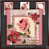 Vintage Stripes and Flowers Card Kit 1068