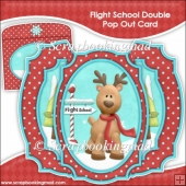 Flight School Double Pop Out Card & Envelope