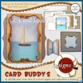 Sailing 7x7 Bracket Edge Shadow Box Fold Card Kit