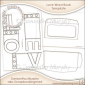 Love Word Book Template Commercial Use