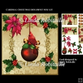 Cardinal Christmas Ornament Mini Kit