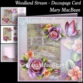 Woodland Stream - Decoupage Card