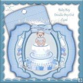 Baby Boy Double Pop Out Card