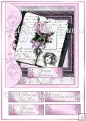 Cottage Chic Rose Memories All Occasion Card Topper w/ Decoupage