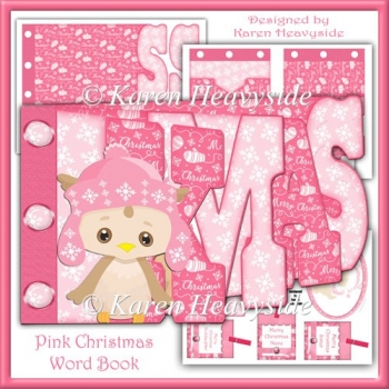 Pink Christmas Word Book