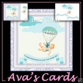 Baby boy parachute Card