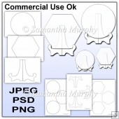 Plate & Plate Stand Template Commercial Use