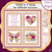 SUMMER BOUQUET SQUARES 7.5 Quick Layer Card & Insert Kit