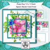Pretty Posy 7.5 Inch Square Pyramage Stacker Card Front & Insert