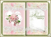 Romantic Story Open Book Shape Card Insert
