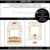 Birth Flower and Gem August: Envelope Add-On Item