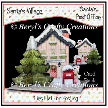 Santa's Village 3D Tree Card - Santa's Post Office